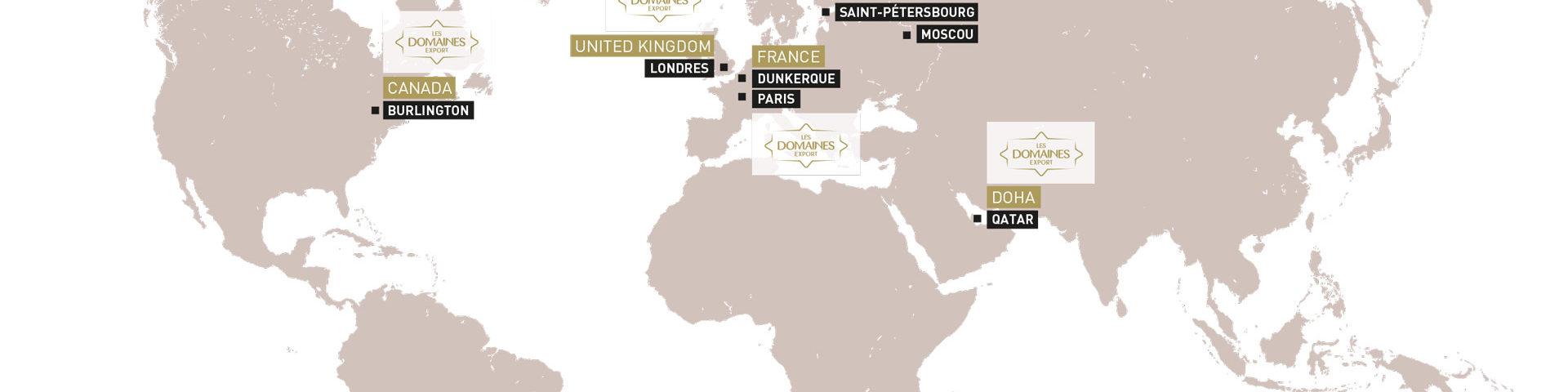 كثفت الضيعات الفلاحية علاقاتها مع شركائها على الصعيد الدولي، فعلاوة على حضورها بالسوق المحلية، يمثل التصدير محورا استراتيجيا هاما بالنسبة للضيعات الفلاحية. فقد ساعد التميز التجاري للمجموعة على تطورها على الصعيد الدولي إما عبر حضورها المباشر وعبر فروعها المتواجدة بالأسواق الهامة لاسيما المملكة المتحدة وأوروبا والشرق الأوسط. أو عبر تمثيلياتها التجارية المحدثة في أسواق أخرى مثل كندا وروسيا. هذا التوسع يؤكد الرغبة القوية للضيعات الفلاحية في تشجيع تنمية المنتوجات المغربية على الصعيد الدولي، كما أنه يمكن المجموعة من بناء علاقة القرب المستدام مع زبنائها وكذلك من توقع وفهم حاجياتهم جيدا من أجل التفاعل معهم بشكل متزايد.